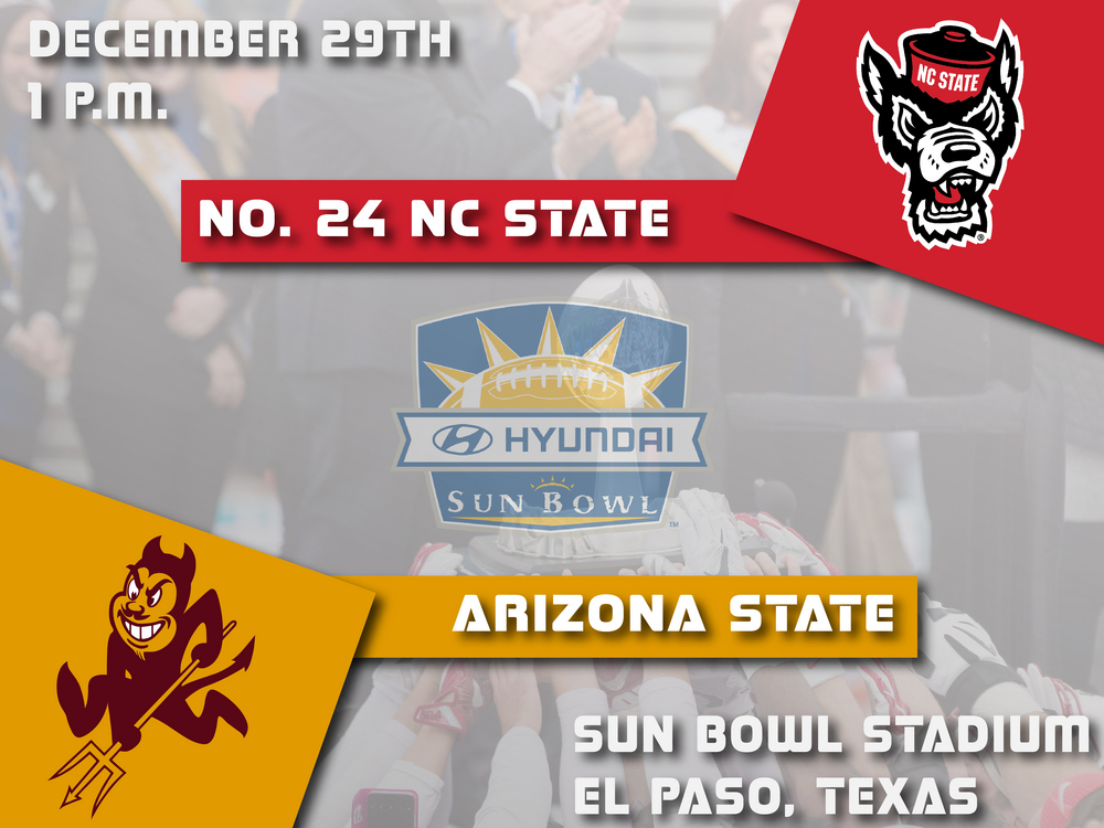 Nationally Ranked NC State to Face Arizona State in 84th Annual Hyundai Sun Bowl