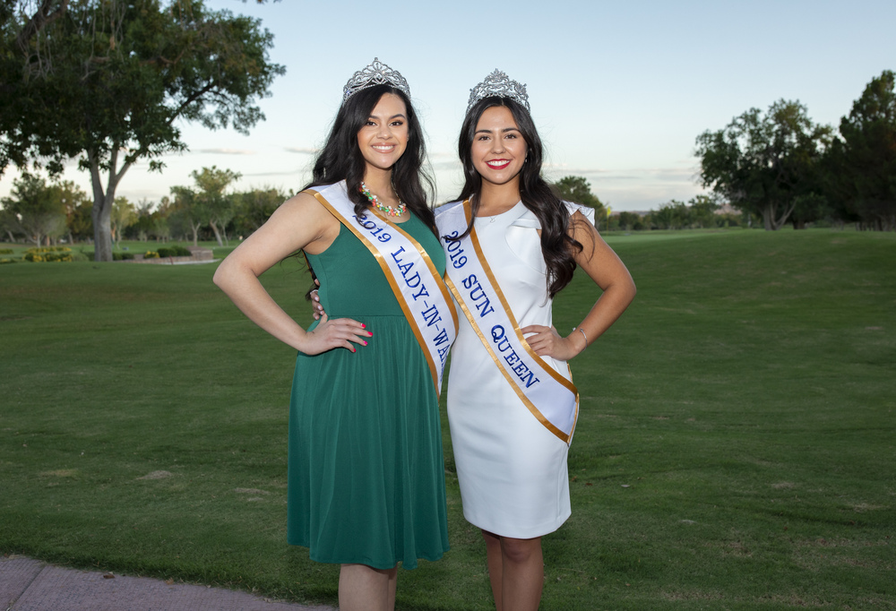 Lady-in-Waiting, Diana Martinez and Sun Queen, Elizabeth Vega