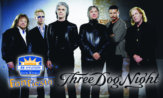 Three Dog Night to Appear at  Hyundai Sun Bowl Fan Fiesta