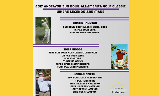 2017 Andeavor Sun Bowl All-America Golf Classic Field is a Strong One; Long Drive and Putting Contests Sunday; Play Starts Monday