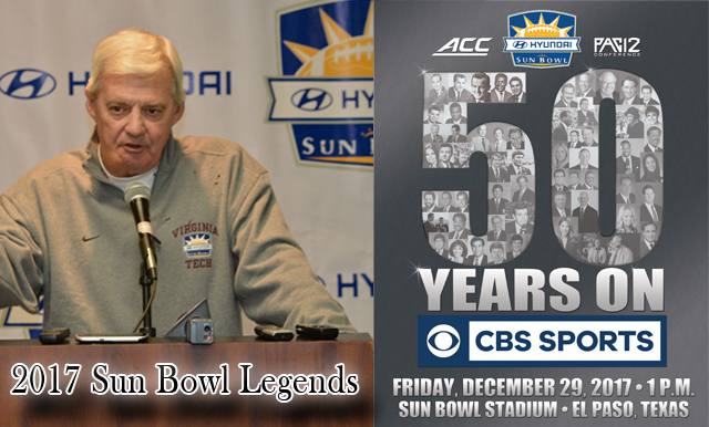 Virginia Tech's Frank Beamer and CBS Sports to be honored as Sun Bowl Legends