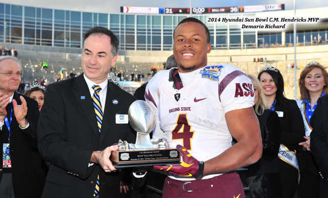 Sun Devil Running Back Demario Richard Eyes Hyundai Sun Bowl History Once Again