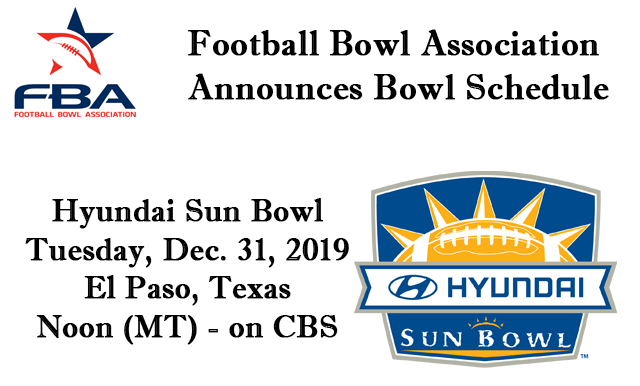 FBA ANNOUNCES 2019-20 BOWL SCHEDULE