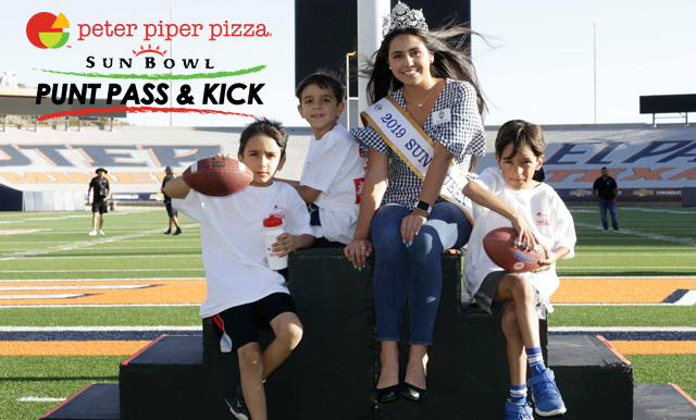WINNERS FROM PETER PIPER PIZZA SUN BOWL PUNT, PASS & KICK ANNOUNCED
