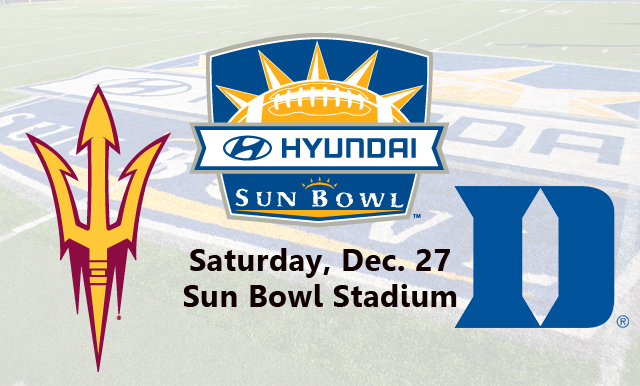 Duke, Arizona State Accept Invitations to Play at Hyundai Sun Bowl