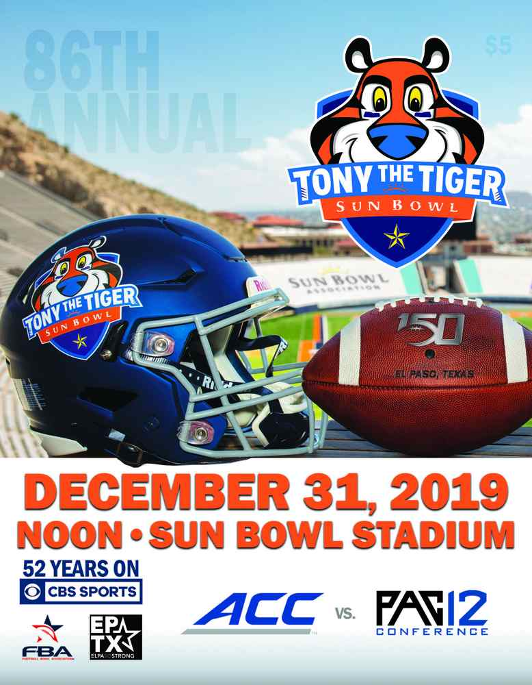 Click image to access 2019 Tony the Tiger Sun Bowl Game Program